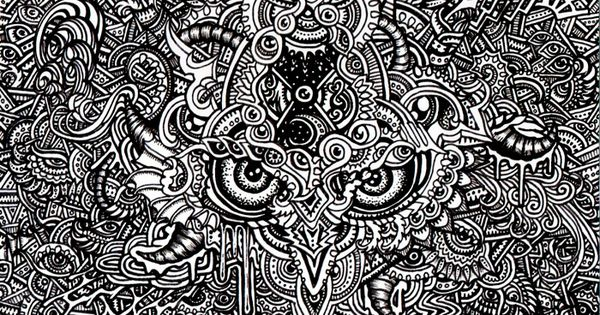 A trippy psychedelic drawing by Japanese artist Lutamesta ...