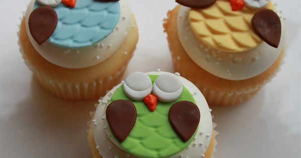 owl cupcakes for baby shower. - owls - cup cake - owl