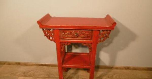 Chinesische Kommode Beistelltisch Tisch Schrank Anrichte Shabby Chic Antik Look Beistelltisch Shabby Tisch
