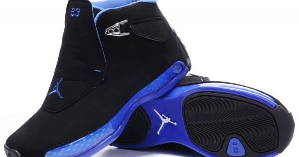 Air Jordan 18 (XVIII) Blanc/Bleu pas cher boutique