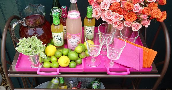 Outdoor Bar Cart. photo House of Fifty Mag, via Flickr