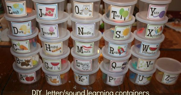 Letter sound tubs. Do this for blends and digraphs too.