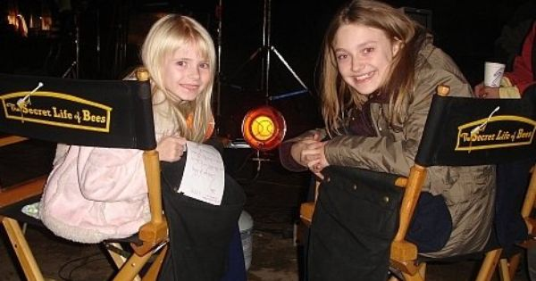 Dakota Fanning And Addy Miller On Location Of The Secret Life Of
