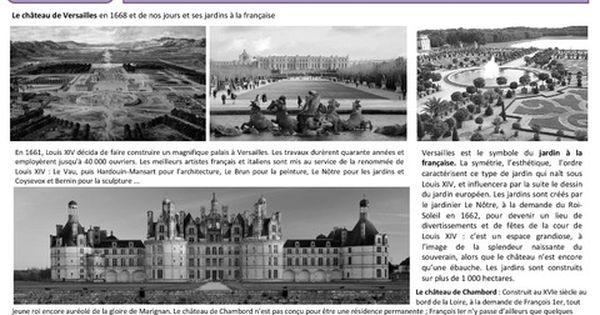 Architecture Royale Les Chateaux Cm1 Cm2 Arts De L Espace