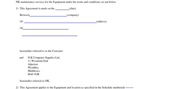 Puter Support Puter Support Agreement Sample