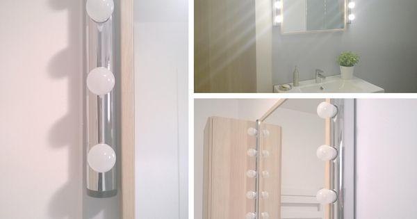 Salle de bain r novation en gris blanc et bois for Miroir 40x160
