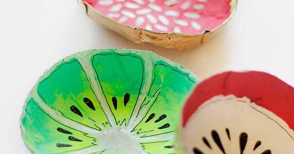 Simple Diy Fruit Bowls Paper Mache