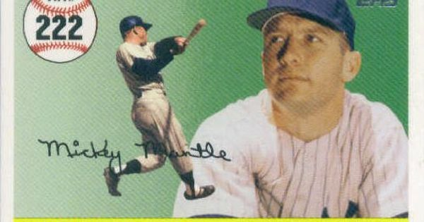 2006 Topps Mantle Home Run History Mhr222 Mickey Mantle New York Yankees 2007 Topps Series 1 Baseball Cards Mickey Mantle New York Yankees Baseball Cards
