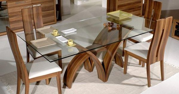 Dream furniture teak wood 6 seater luxury rectangle glass for 12 seater glass dining table