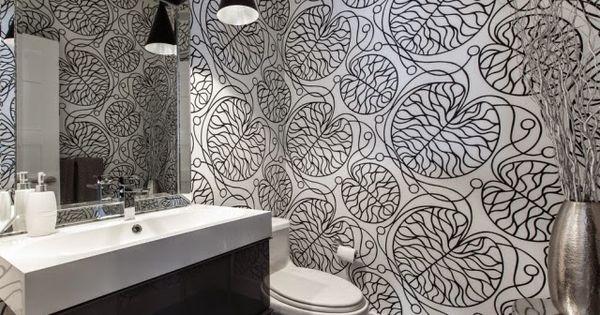 Como decorar el ba o con papel pintado decoracion de ba os - Papel banos decoracion ...