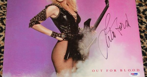 Lita Ford Signed Autographed Out For Blood Record Lp Album