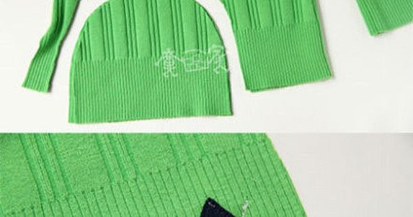 Upcycle sweater to make a winter hat. Great idea for all of
