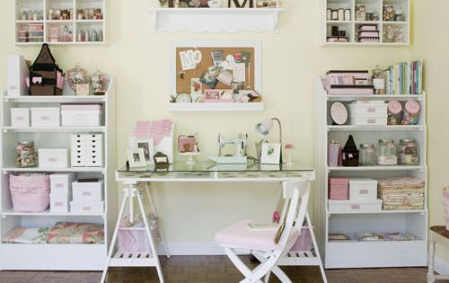 such a pretty sewing space