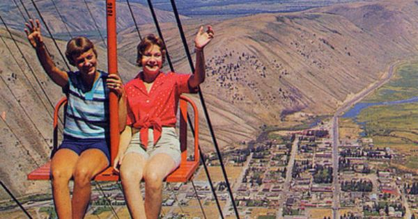 Grand Tetons Chairlift Jackson Wyoming Vintage Postcards Pinterest My Mom Jackson Hole