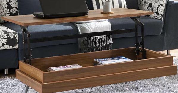 Cornelia Lift Top Coffee Table With Storage Coffee Table Desk Walnut Coffee Table Contemporary Coffee Table