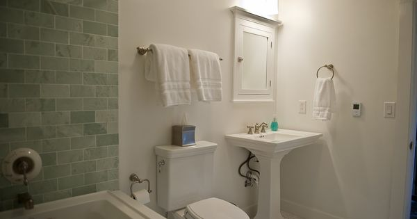 Replacing A Pedestal Sink With A Vanity : Kohler Memoirs pedestal sink and Toto Promenade toilet Bathroom ...