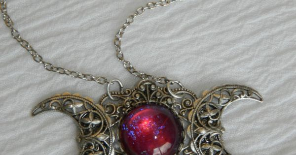 Dragon Keeper Triple Moon Goddess necklace - SOLD!