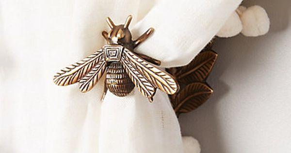 Queen Bee Tieback Ties Curtain Tie Backs And Cottages