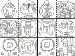 Hundertwasser Coloring Book Google Search Hundertwasser Kunst