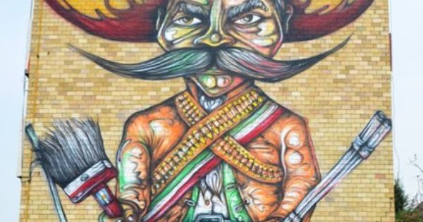 Giant mural by pelado completed in mexico alfredo for Arte mural en mexico