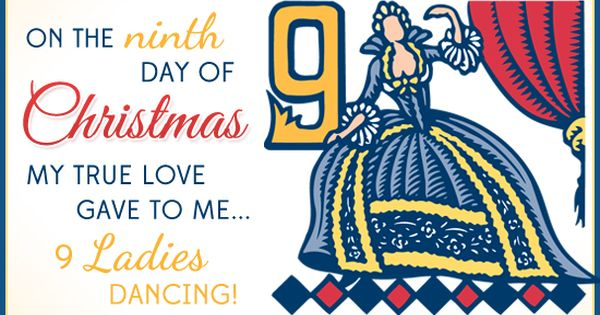 My True Love Gave To Me 9 Ladies Dancing Personalised Christmas Cards Free Personalized Christmas Cards Christmas Card Online