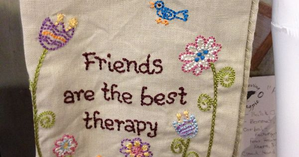 friends are the best therapy kitchen towel