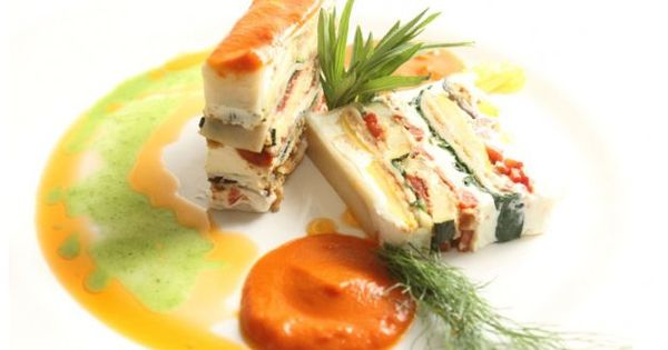 Ratatouille and Goat Cheese Napoleon | Yummy Goodness... | Pinterest ...