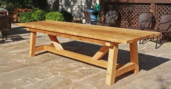 Pin By House Of Hepworths Diy On Build Outdoor Table Plans Outdoor Wood Dining Table Outdoor Wood Table