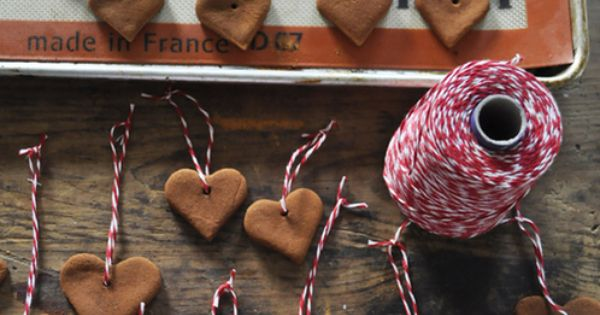 DIY Cinnamon Heart Ornaments - they make your tree smell amazing and
