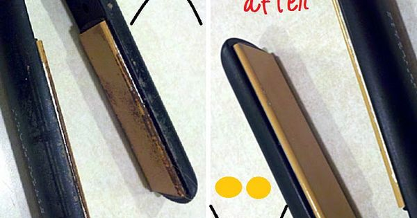 Clean your flat iron with baking soda & hydrogen peroxide paste. I