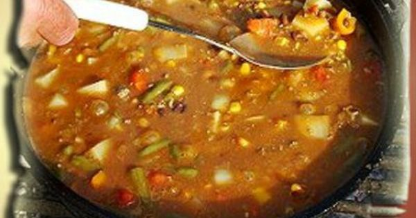 Cowboy stew, Dutch ovens and Stew on Pinterest