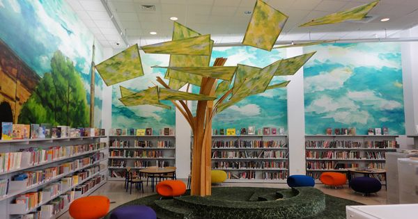 Children S Rooms Public Libraries The Tree In The