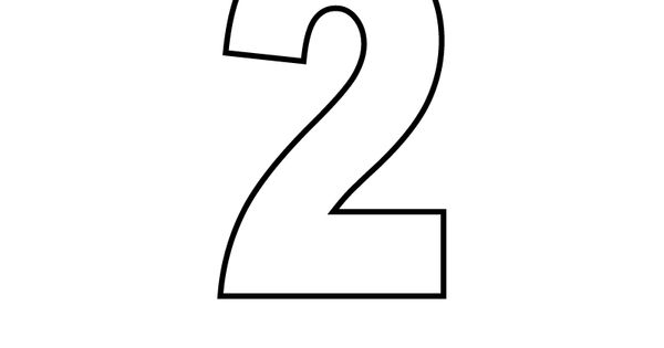 Number Two Coloring Page Printable.