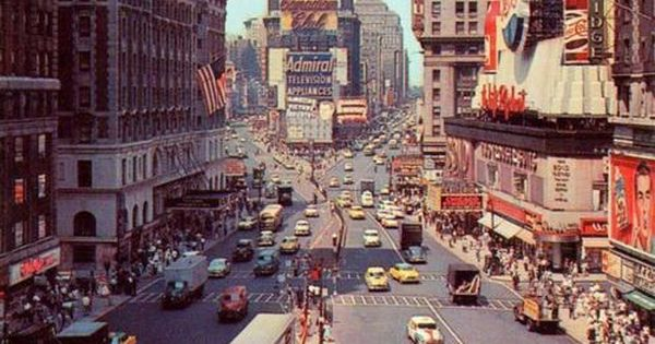 Old school times square