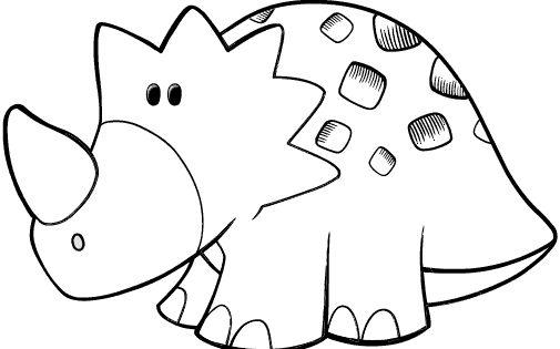 Juegos De Pintar Dinosaurios Que Vuelan Biblioteca De: Colorear Triceratops