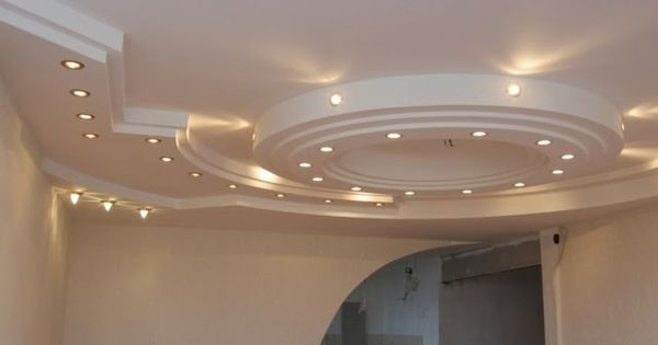 Built In Lights For Ceiling : Gypsum board false ceiling designs with built in suspended