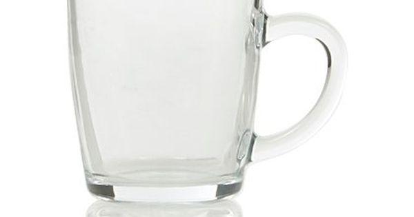 George Home Glass Tea Mugs Set Of 3 Cups Mugs George At Asda Tea Mugs Glass Tea Mugs Set