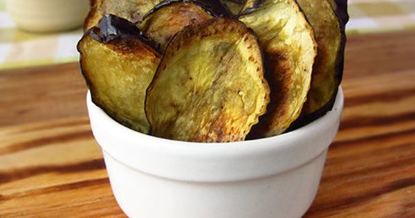 Rosemary & Garlic Eggplant Chips (low-carb, paleo), recipe suitable for the 30-Day Clean
