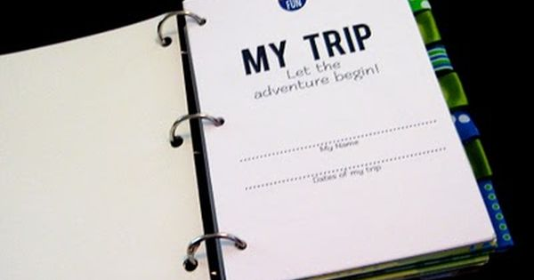 DIY: Create Kids travel journal. A great way to capture vacation moments