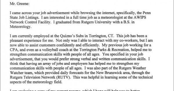 cover letter format purdue owl