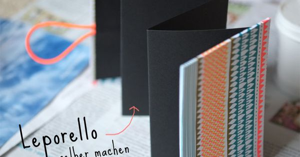 lybstes leporello selber machen mit neon papier gifts pinterest gift. Black Bedroom Furniture Sets. Home Design Ideas