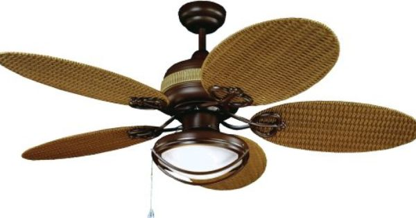 Yosemite Home Decor Tropical Breeze 48 Inch Ceiling Fan With Light Kit Rated For Wet Locations