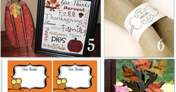 12 free Thanksgiving Printables