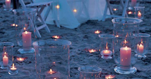 Velas para una cena rom ntica en la playa balart n vies wedding center bodas de verano - Cena romantica con velas ...