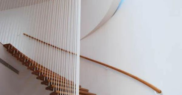 Escalera minimalista de madera barandas de escalera - Como se hacen escaleras de madera ...