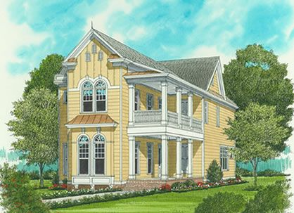 Narrow Lot Plans For A Carolina Style Coastal House Victorian House Plans Country Style House Plans Narrow Lot House Plans