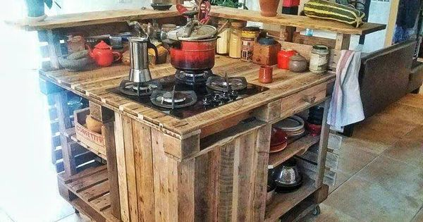 k cheninsel mit paletten mobel aus paletten pinterest pallets corner bar and pallet crafts. Black Bedroom Furniture Sets. Home Design Ideas