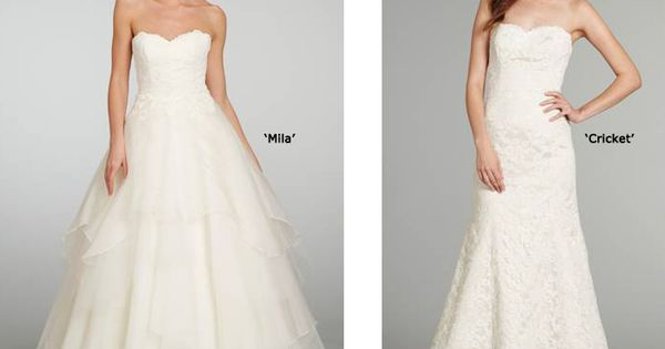 Haley Paige gowns = a little drama, a little bit of sweetness