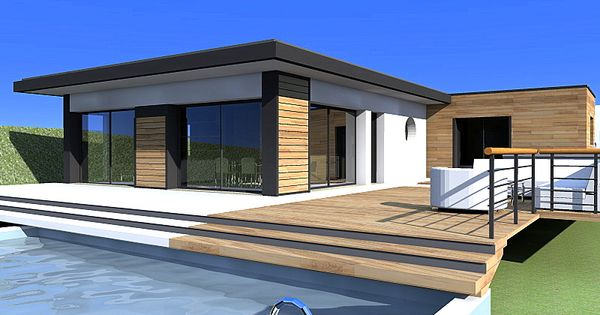 Maison moderne bardage bois   Architecture at Repinned.net