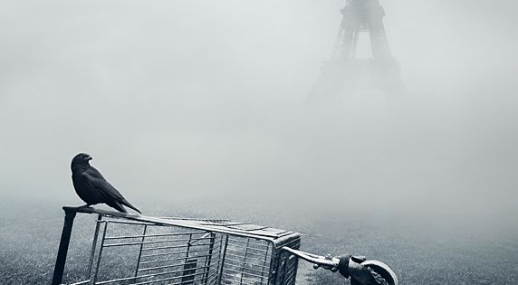 Eiffel tower. Paris photo manipulation